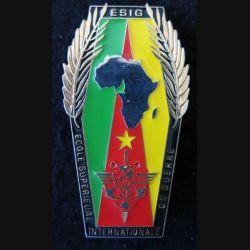 ESIG : insigne de l'école supérieure internationale de guerre  Cameroun Yaoundé