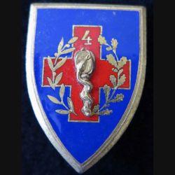 4° SIM : insigne métallique de la 4° section d'infirmiers militaires de fabrication Drago Paris en émail