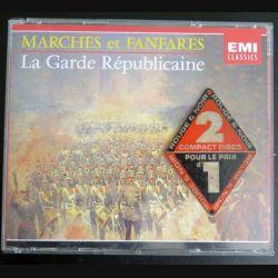 DISQUE CD :  DOUBLE CD Marches et Fanfares de la Garde Républicaine (C177)