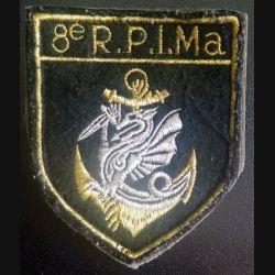 8° RPIMA : insigne tissu du 8° Régiment parachutiste d'infanterie de marine sur velcro