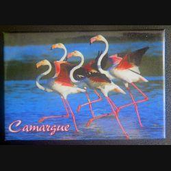 MAGNET FRIGO Camargue représentant des flammands roses 5,5 x 8 cm