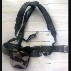 ceinturon avec bretelles et porte gourde camouflée  (C182)