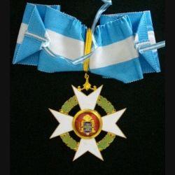 INTERNATIONAL : Médaille d'or de commandeur de l'ordre de la concorde dans son écrin avec miniature et rappel (C167)