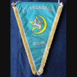 1° RS : fanion du 3° escadron du 1° régiment de spahis en tissu imprimé