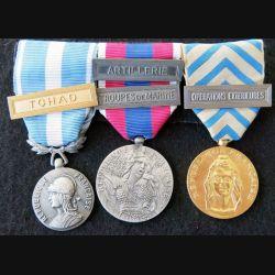 FRANCE : plaquettes de décorations de 3 médailles commémoratives françaises