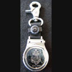 PORTE CLEFS : montre porte clefs de la 13° DBLE avec boussole argenté