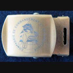 LEGION : Boucle de ceinture de pantalon de la CCL du 2° REG hauteur 3,7cm doré