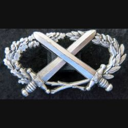 BMP1 : insigne du brevet militaire professionnel n°1 échelon argent Drago attaches pin's