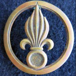 INSIGNE DE BÉRET REI : Insigne de béret de la légion étrangère de fabrication Coinderoux