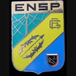 ENSP : Insigne métallique de l'école nationale supérieure de la Police de fabrication Arthus Bertrand Paris