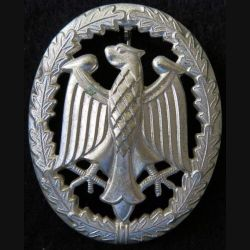 ALLEMAGNE : insigne des forces armées allemandes de la compétence militaire grade argent