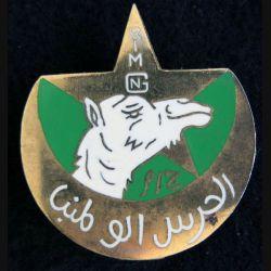 RIM GN : Insigne métallique du Goum National de Mauritanie de fabrication Drago Paris