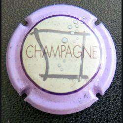 Capsule Muselet de bouteille de champagne Sébastien Beaufort violet tâcheté (L1)