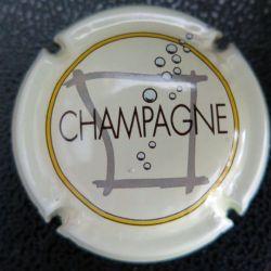 Capsule Muselet de bouteille de champagne Sébastien Beaufort blanc (L1)