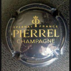 Capsule Muselet de bouteille de champagne Pierrel noir et Or (L1)
