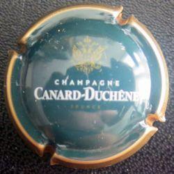 Capsule Muselet de bouteille de champagne Canard Duchêne or centre vert (L1)