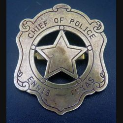 insigne de Chief of Police Ennis Texas copie de fabrication Denix espagnole
