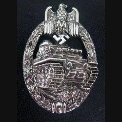 """insigne de l'arme blindée allemande 1939 en """"argent"""" copie de fabrication espagnole"""