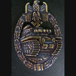insigne de l'arme blindée allemande 1939 en bronze copie de fabrication espagnole