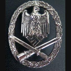 """insigne des unités d'assaut allemande 1940 en """"aregent"""" copie de fabrication espagnole"""