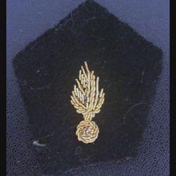 insigne de col : insigne tissu de col du corps des experts grenade cannetille