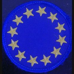 Europe : insigne d'épaule de l'Europe de diamètre 7 cm sur scratch