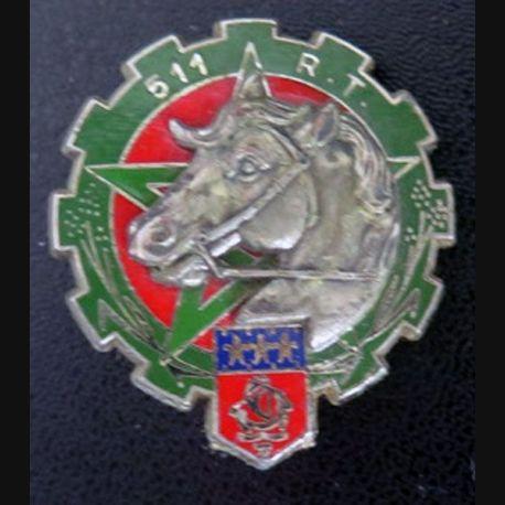 511° RT : Insigne du 511° régiment du train de fabrication Delsart G. 2631