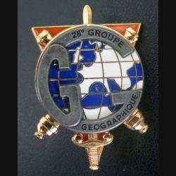 28° GG : insigne du 28° groupe géographique de fabrication Delsart  G 4610