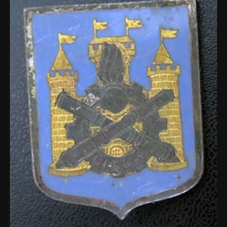 CISM N° 1 : insigne métallique du centre d'instruction du service du Matériel N° 1 de fabrication Drago Paris G. 1539 en émail