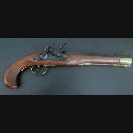 Pistolet de pirate (reproduction espagnole) en bois et métal (C185-3)