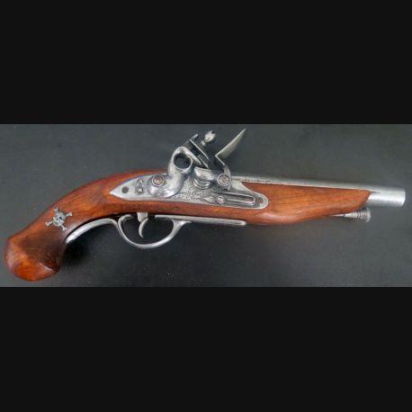 Pistolet de pirate (reproduction espagnole) en bois et métal manufacture d'armes de Saint Etienne (C185-6)