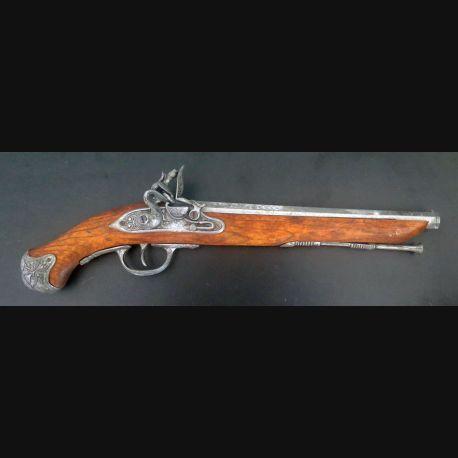 Pistolet de pirate (reproduction espagnole) en bois et métal (C185-10)