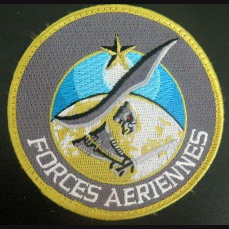Insigne tissu des forces aériennes de diamètre 9 cm sur scratch