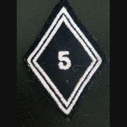 LOSANGE DE BRAS MODÈLE 45 : 5° régiment de cuirassiers troupe sur scratch