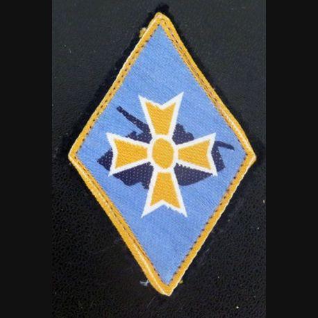 1° DB : insigne tissu de la 1° division blindée avec crochets