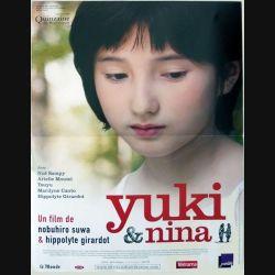 """AFFICHE FILM : affiche de cinéma du film """"Yuki & Nina"""" dimension 40 x 53 cm"""
