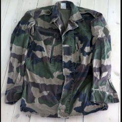 Veste de treillis camouflé vert armé taille 88 L état usagé (C188 - 58)