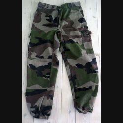 Pantalon de treillis camouflé vert armé taille 80 M de fabrication Transconfection (C188 - 59)