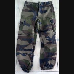 Pantalon de treillis camouflé vert armé taille 80 M de fabrication Focsa (C189 - 64)