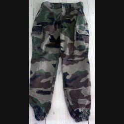 Pantalon de treillis camouflé vert armé taille 80 L de fabrication Transconfection (C189 - 70)