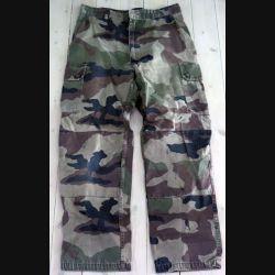 Pantalon de treillis camouflé vert armé taille 80 L de fabrication CSV 2008  (C191 -73)