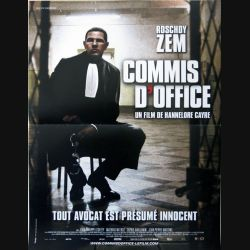"AFFICHE FILM : affiche de cinéma du film ""Commis d'office"" dimension 39 x 53 cm"