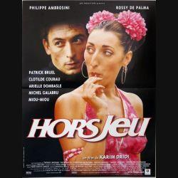 """AFFICHE FILM : affiche de cinéma du film """"Hors jeu"""" dimension 40 x 54 cm"""