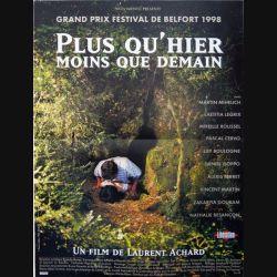 """AFFICHE FILM : affiche de cinéma du film """"Plus qu'hier moins que demain"""" dimension 40 x 54 cm"""