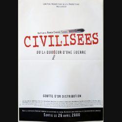 """AFFICHE FILM : affiche de cinéma du film """"Civilisées"""" dimension 40 x 60 cm"""