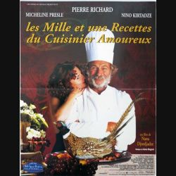 """AFFICHE FILM : affiche de cinéma """"Les mille et une recettes du cuisinier amoureux"""" 40 x 53,5 cm"""