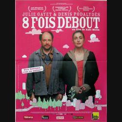 """AFFICHE FILM : affiche de cinéma du film """"8 fois debout"""" dimension 40 x 53 cm (E002)"""