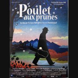 """AFFICHE FILM : affiche de cinéma du film """"Poulet aux prunes"""" dimension 40 x 53 cm (E002)"""
