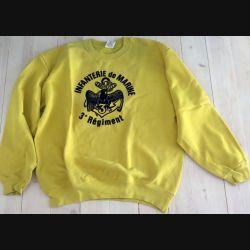 Sweat shirt du 3° RPIMA de taille M avec flocage insigne  fabrication Fruit of the Loom (C191 - 107)