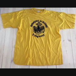 Tee shirt du 3° RPIMA de taille 96 avec flocage insigne  fabrication Autentic tee shirt (C191 - 108)